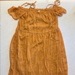 Mustard Xhilaration Midi Dress